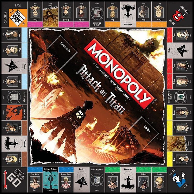 monopoly attack on titan